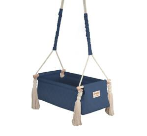 Kolíska NewBorn Swing - Navy blue