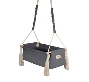 Kolíska NewBorn Swing - Dark Gray