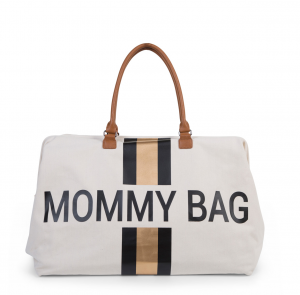 Prebaľovacia taška MOMMY BAG - Stripes black-gold