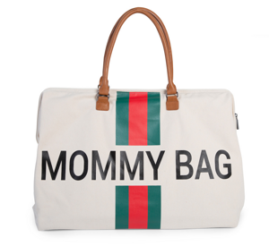 Prebaľovacia taška MOMMY BAG - Stripes red-green